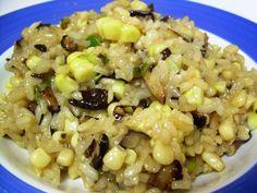 creamy corn and mushroom risotto