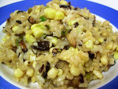 Corn and Mushroom Risotto