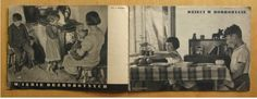 Spread from the book Life's Ups and Downs of Our Children, 1938 Book Of Life, The Book, Polish People, Children Images, Ups And Downs, Unique Colors, Colours, Shapes, Gallery