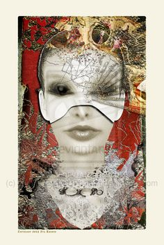 SHE in Mask by (print image) Find Art, Deviantart, Creative, Flamingo, Illustration, Artwork, Image, Art, Libros
