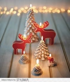 We love these adorable holiday candles to add a little character to your party!