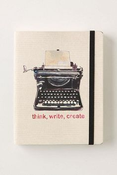 think, write, create stamped journal
