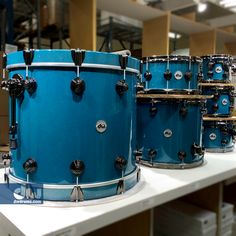 Gun Metal Grey with Regal Blue Sparkle (mixed). #dwdrums #thedrummerschoice