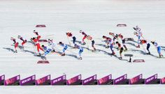Athletes start the Women's 30 km Mass Start Free during day 15 of the Sochi 2014 Winter Olympics at Laura Cross-country Ski & Biathlon Center on February 2014 in Sochi, Russia. Get premium, high resolution news photos at Getty Images Winter Olympics 2014, Cross Country Skiing, New Day, Athletes, Events, Free, Image, Biathlon, Brand New Day