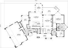 Traditional Style House Plans - 7514 Square Foot Home , 2 Story, 5 Bedroom and 4 Bath, 4 Garage Stalls by Monster House Plans - Plan 38-269