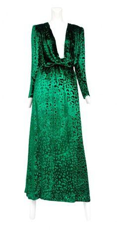 Vintage Yves Saint Laurent Silk Gown @ Resurrection Vintage #YSL