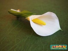 Hairpin calla from polymer clay