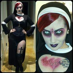 DIY halloween costume....... possessed nun