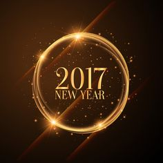 global ring style happy new year 2017 wishing image hd pic