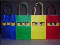 Ninjago party bags