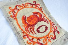 Cancer the Crab Astrological Sign Needle by IronandLaceLinens, $9.95
