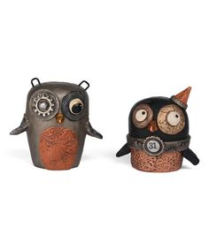 Another great find on #zulily! Punked Owl Figurine Set #zulilyfinds