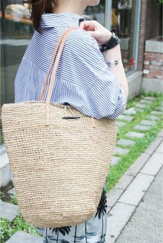 le voyage en panier/ル ボヤージュエンパニーヤ ILANA Solid Bag: トートバッグ