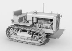 1:25 Scale detailed ChTZ S-65 Stalinez Tractor free paper model download