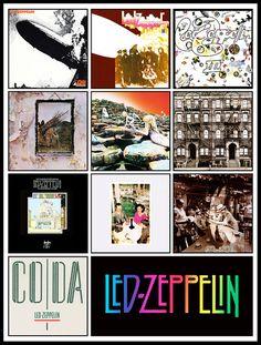 "LED ZEPPELIN discography magnet (4.5"" x 3.5"")"