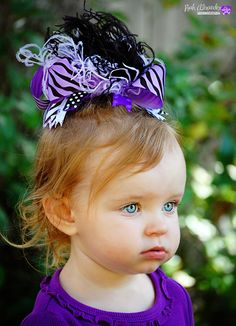 Love the purple and black!  Girls Over the Top Lavender and Black Zebra by IzzyDianesBowtique, $17.00