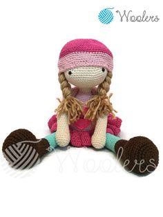 Lily / Crochet Doll / Handmade Amigurumi / Amigurumi animal/doll von WoolersPL auf Etsy