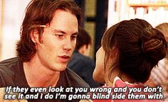 22 Reasons Why Tim Riggins Is The Perfect Boyfriend Taylor Kitcsh as Tim Riggins in Friday Night Lights Funny Friday Memes, Its Friday Quotes, Friday Humor, Funny Quotes, Tv Quotes, Movie Quotes, Tim Riggins, Taylor Kitsch, Friday Night Lights Shirt