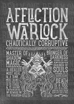 World of Warcraft Class Specialization / Roleplaying / Fantasy Inspired Art Print - Affliction Warlock - Clothing, Art Prints and Posters Available now! #worldofwarcraft #wowwarlock #afflictionwarlock #worldofwarcraftwarlock #warcraftart #warlockart #realmone #realmonestore #rpgclass #warlocktshirt #worldofwarcrafttshirt #worldofwarcrafttee