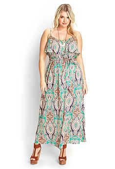 Kaleidoscope Flounce Maxi Dress | FOREVER 21 - 2000123452