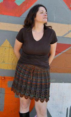 Lacy Shell Skirt - free crochet pattern