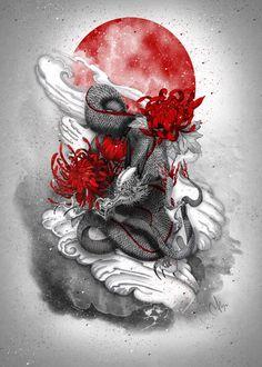 Tattoos Discover Dragon Art Print by Marine Loup - X-Small Japanese Dragon Tattoos Japanese Tattoo Art Japanese Sleeve Tattoos Asian Dragon Tattoo Japan Tattoo Raijin Tattoo Japon Illustration Trash Polka Tattoos Japanese Art Prints Japanese Tattoos For Men, Japanese Dragon Tattoos, Japanese Tattoo Art, Japanese Tattoo Designs, Japanese Sleeve Tattoos, Asian Dragon Tattoo, Raijin Tattoo, Trash Polka Tattoos, Japanese Art Prints