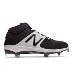 Mid-Cut 3000v3 Metal Cleat Men's Mid-Cut Cleats Shoes - Black/White (M3000BK3)