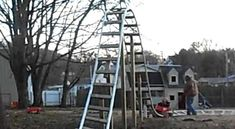 I can totally see my brother building one of these Backyard Roller Coasters. http://www.killsometime.com/videos/9057/Backyard-Roller-Coaster