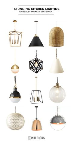STUNNING KITCHEN LIGHTING  Make an impact in your kitchen with any of these beautiful pendant lights over your island. These will take your kitchen from average to AMAZING!