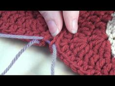 How to: Sew Crochet Motifs Through the Back Loops