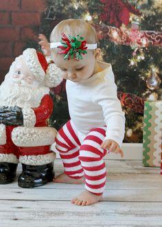 Baby Christmas Leg Warmers Baby Christmas by SassyDivasDressShop, $14.95