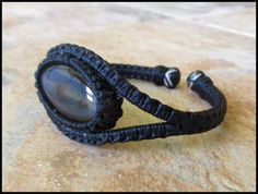 RESERVED - Brown Agate Oval Stone Macrame Wrapped Wire Bracelet ...