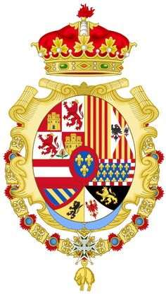 Coat of Arms of Infante Louis of Spain, Count of Chinchón-Before he abandoned the ecclesiastical life