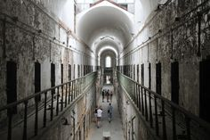 """Discover Eastern State Penitentiary in Philadelphia, Pennsylvania: World's first """"penitentiary,"""" meant to be humane, drove men insane. Winchester Mystery House, Eastern State Penitentiary, Horror House, Fall River, Haunted Places, West Indies, Central America, Photo Contest, West Virginia"""