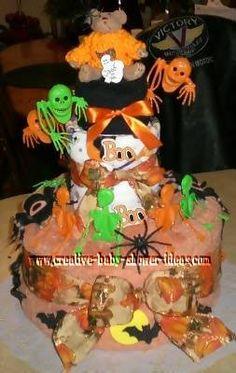 halloween diaper cake baby shower ideas