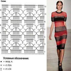 Fabulous Crochet a Little Black Crochet Dress Ideas. Georgeous Crochet a Little Black Crochet Dress Ideas. Crochet Diagram, Crochet Chart, Filet Crochet, Crochet Motif, Crochet Lace, Black Crochet Dress, Crochet Bodycon Dresses, Crochet Blouse, Crochet Stitches Patterns
