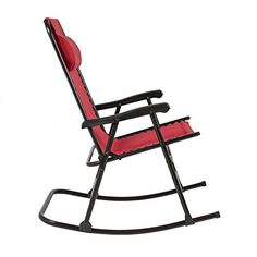 Best Choice Products Folding Rocking Chair Foldable Rocker Outdoor Patio Furniture Red  Best Choice Products presents you this brand new red folding rocking chair. This rocker chair is made of steel frame with weather resistant fabric. This lightweight rocker chair can be folded for easy transportation and storage with the folding design. It is definitely a great piece that allows you to sit back and enjoy the breeze in your backyard. We purchase our products directly from the manufa..