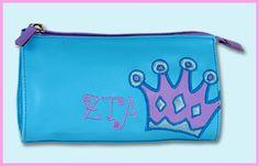 Zeta Tau Alpha Sorority Cosmetic Bag $11.95