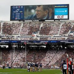 Sports: Penn States Joe Paterno Tribute Met With Standing Ovation and Protest