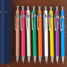 With your dorm checklist, don't forget school supplies! We love these vintage inspired pens. College School Supplies, College Fun, Dorm Room Desk, Dorm Checklist, Woven Wood Shades, Best Pens, Wood Blinds, Roller Shades, Vintage Inspired