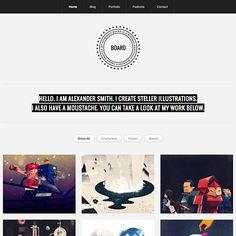 Logo and template :: Board Clean and Modern Portfolio WordPress Theme
