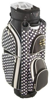 Hunter Ladies Eclipse Cart Golf Bags - Black Polka Dot