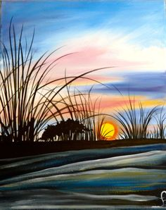 Sunrise on the Island - Painting with a Twist