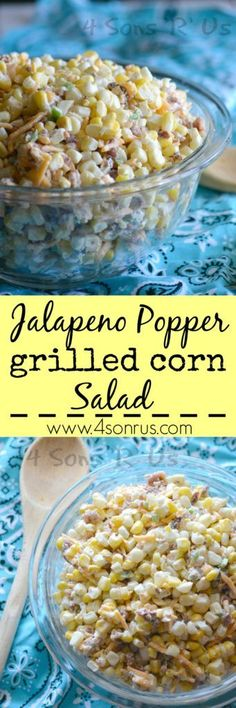 Throw a few ears of corn on the grill and toss the cooked kernels into a bowl. Stir in some tasty mix ins like bacon, jalapeno, and cheddar cheese until you've got this fresh and creamy Jalapeno Popper Grilled Corn Salad. It'll be your new go-to side salad dish.