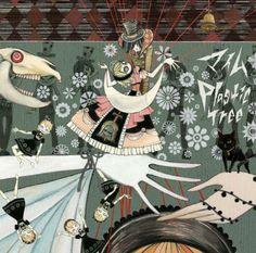 gekidan inu curry (album artwork for the band plastic tree)