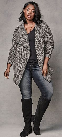 Plus Size Cardigan Outfit - Shop The Look