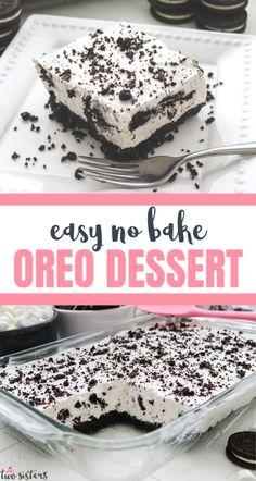 Cool Whip Desserts, Fluff Desserts, Bite Size Desserts, Mini Desserts, Easy Desserts, Delicious Desserts, Desserts With Oreos, Yummy Food, Oreo Layer Dessert