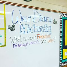 Walt Disney Wednesday - Favorite Disney Movie and Why? Daily Writing Prompts, Teaching Writing, Writing Activities, Classroom Activities, Teaching Themes, Classroom Whiteboard, Interactive Whiteboard, Morning Activities, Bell Work
