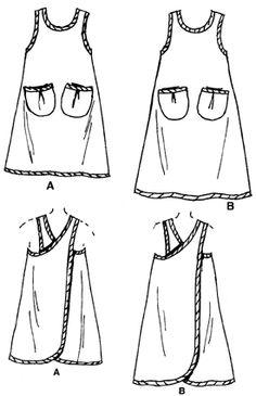 Simplicity Daisy Kingdom Crafts -- Apron 7481