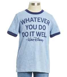Do It Well Tee - Peek + Disney - Browse - new arrivals Great Quotes, Inspirational Quotes, Enjoy Quotes, Kids Clothing Brands, Clothing Stores, Disney Love, Disney Style, Walt Disney, Designer Kids Clothes